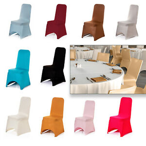 Spandex Dining Chair Seat Covers Wedding Banquet Party Stretch Removable