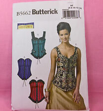 Butterick 5662 Misses' Vintage Steampunk Costume Corset Sew Pattern 6-14 4 Looks