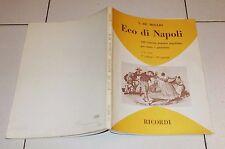 Spartiti De Meglio ECO DI NAPOLI Volume 1 - Ricordi 1978 Songbook napoletane Vol