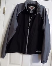 Men's Black & Gray Harley Davidson Motor Clothes Motorcycles Jacket Size L