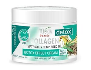 VB Detox Day & Night Anti-Wrinkles Face Cream Collagen Hemp Oil 60+