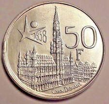 ===>>> 50 Frank Belgïe 1958 NL  Expo KM# 151 <<<===