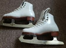 "Riedell Ice Skate Boots w/Professional Freestyle Sheffield Steel 8 1/4"" Blade"
