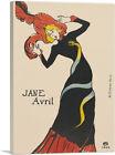 ARTCANVAS Jane Avril 1899 Canvas Art Print by Henri De Toulouse-Lautrec