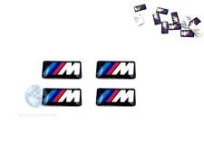 4x ADESIVO STEMMA BMW M POWER SERIE 1 2 3 4 5 6 7 Z X LOGO CERCHI IN LEGA