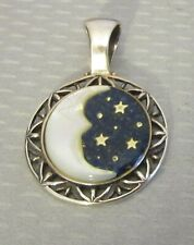 Carolyn Pollack Relios 925 sterling silver MOTHER OF PEARL MOON & STARS PENDANT