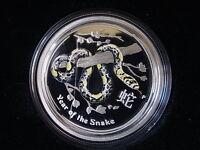 Australia. 2013 1/2oz - Silver Proof (50c). Coloured Lunar Series-Snake. Proof