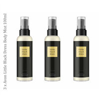 3 x Avon Little Black Dress Body Mist Spritz // Fragrance Perfumed Spray 100ml