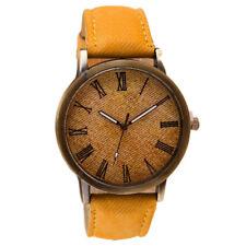 UNISEX WATCH Leather Band Perfect Quartz Analog WristWatch