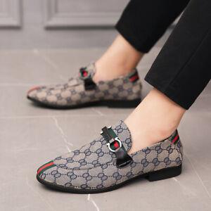 Mens New Slip On Wide Comfort Loafers Driving Moccasins Boat Shoes [UK 9,Blue]