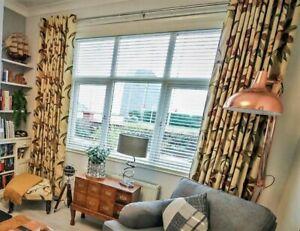 BEAUTIFUL BESPOKE EYELET CURTAINS GREAT SIZE FOR LARGE WINDOW
