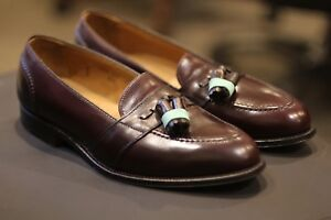 Alden 693 Tassel Burgundy Leather Mocassins Loafers Shoes Made in USA Size 10 D