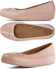 FITFLOP DUE NUDE PATENT LEATHER PLATFORM BALLERINA PUMPS SHOES UK 6.5 /40 RRP£95