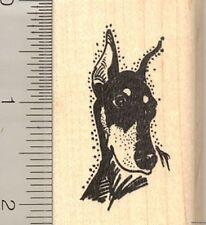 Doberman Pinscher Face dog rubber stamp G11008 WM