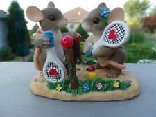 """Free Ship! Charming Tails """"Two Love"""" w Box, styrofoam and 3 Ct Sports Cards"""