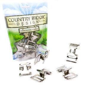 5 - Country Brook Design® 1 Inch Alligator Clip Spring Action Buckle