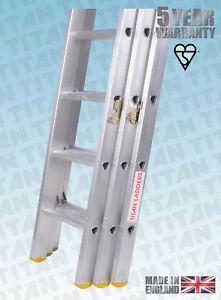 Titan Aluminium Classic Trade Extension Ladders, Double or Triple Extension