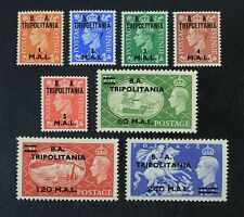 CKStamps: Great Britain Stamps Office in Tripolitania Scott#27-34 Mint LH OG