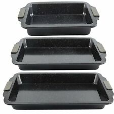 3 Piece Baking Sheets Pans Nonstick Oven Cooking