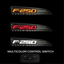 2011-2016 F250 SuperDuty Black Side Fender Emblems  White, Red, Amber Light logo