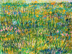 Patch of Grass by Vincent van Gogh 75cm x 56cm High Quality Canvas Print