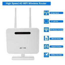 4G LTE CPE WiFi Inalámbrico Router 300Mbps Repetidor Soporte SIM Tarjeta EU Plug