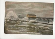 Rough Sea Cleethorpes 1906 Postcard 476b