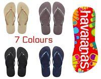 Original Havaianas Brazil Flip Flops Slim Crystal Women Various Colours *BNWT*