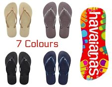 Original Havaianas Brazil Flip Flops Slim Crystal Women Various Colours *BNWT*