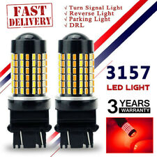 2X Red 144SMD 3157 3156 LED Reverse Bulb Backup Signal Light  For Chevrolet DY