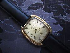 rare  mens vintage SICURA  mechanical watch,,,,stepped case,,