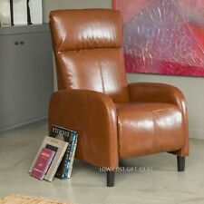 Best Recliner Chair For Living Room Brown Comfy Leather Reclining Armchair RV