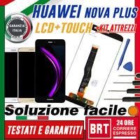 LCD+TOUCH SCREEN HUAWEI NOVA PLUS MLA-L11 DISPLAY SCHERMO VETRO BIANCO NERO+KIT!