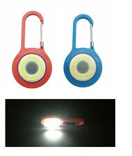 COB LED Keychain flashlight with Carabiner Portable Handheld Pocket Lamp Outdoor