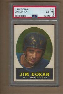 1958  TOPPS  FOOTBALL  JIM  DORAN  #  43    PSA  6