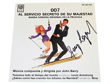 John Barry ON HER MAJESTY'S SECRET SERVICE James Bond 007 George Lazenby autogr.
