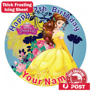 Belle Beauty and The Beast Edible Image Cake Topper Round Frosting Icing