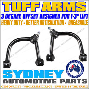 """TUFF ARMS - SUITS 2"""" + LIFT for Toyota Hilux KUN26 4WD OFFSET Upper Control Arms"""