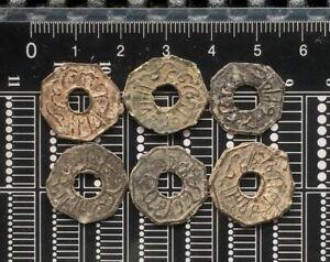 PALEMBANG SULTANATE TIN PITIS COINS 6x