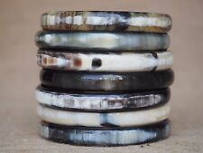 Buffalo Horn Bangles Set 7 Bracelets Natural Material Jewelry