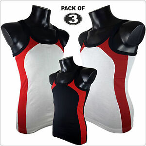 New Mens Pack of 3 Quality Slim Fit Vests GYM SUMMER Tank Top Cheapest #Z4