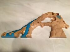Thomas Train Trackmaster Action Canyon Tumblin Bridge Front Mountain Wall LeftW2
