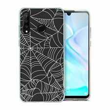 For Huawei P30 LITE Silicone Case Halloween Spider Web Pattern - S4029