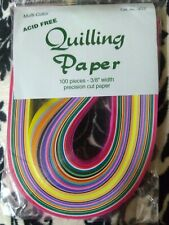 """Nip Sealed Lake City Crafts 100 Pieces 3/8"""" Quilling Paper Multi Colors #352"""