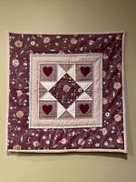 Hand Made Art Quilt / Wall Hanging ***NICE SOFT MAUVE COLORS****