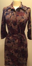 "New w/tags Julie Brown Brown ""Milo"" Animal Print Jersey Shirtdress Size XL"