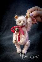 Cute Old Vintage retro jointed artist Teddy Bear OOAK handmade by Yumi Camui