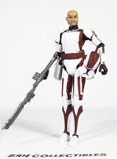 "Star Wars 3.75"" Animated Clone Wars CW44 CLONE COMMANDER STONE Loose"