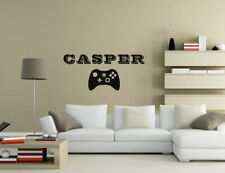 Personalised Name game controller Wall Quotes Living Room Wall Stickers UK 50r