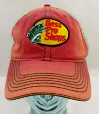 Bass Pro Shops Baseball Fishing Hat Cap Flex Mesh Trucker Rusty Red Brown Adult